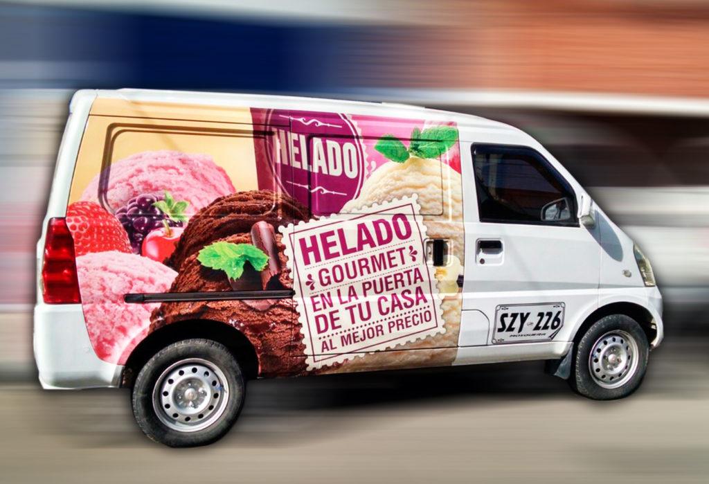 Impresión, Material POP, Branding Vehiculo Helado